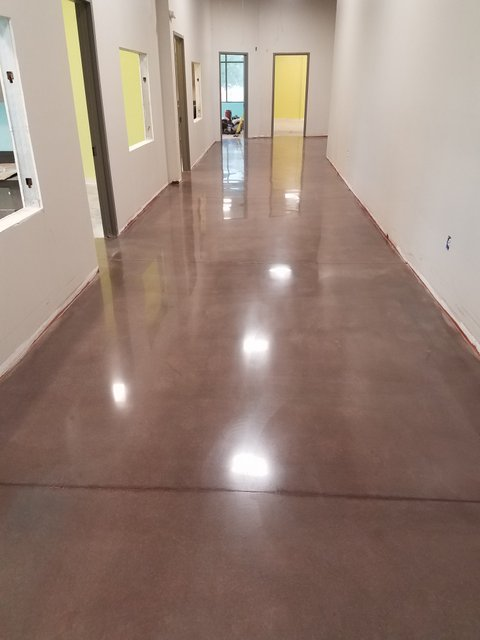 Polished and Dyed Concrete Floor for Church