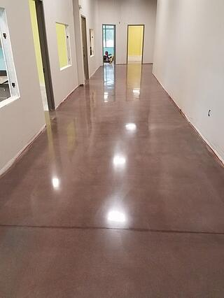 Polished Concrete Floor with Colored Dye Non-Slip