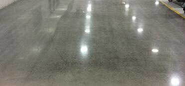 low luster wet method concrete polishing