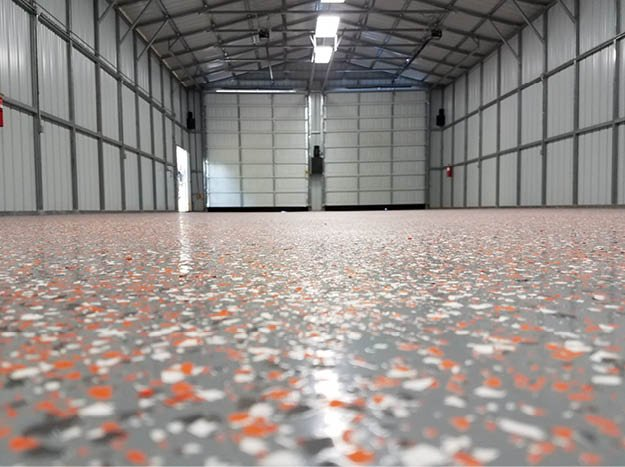Colorful epoxy floor coating