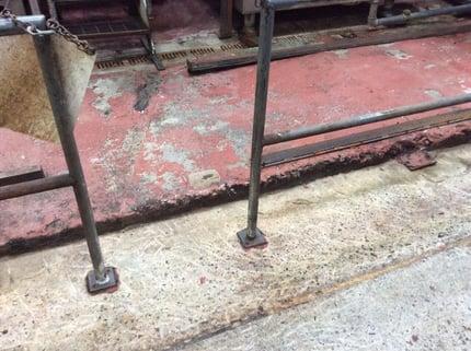 Concrete floor in need of refinishing