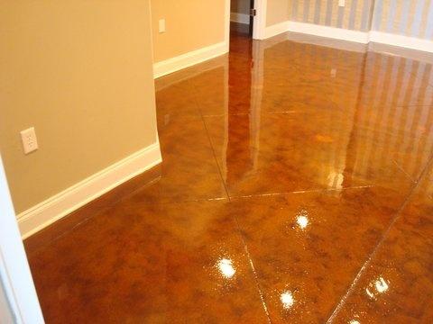 concrete floor stain refinishing