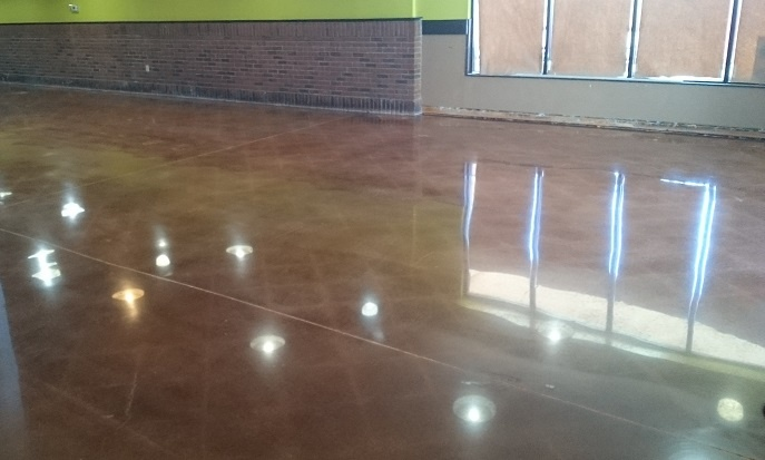 High-gloss concrete polishing