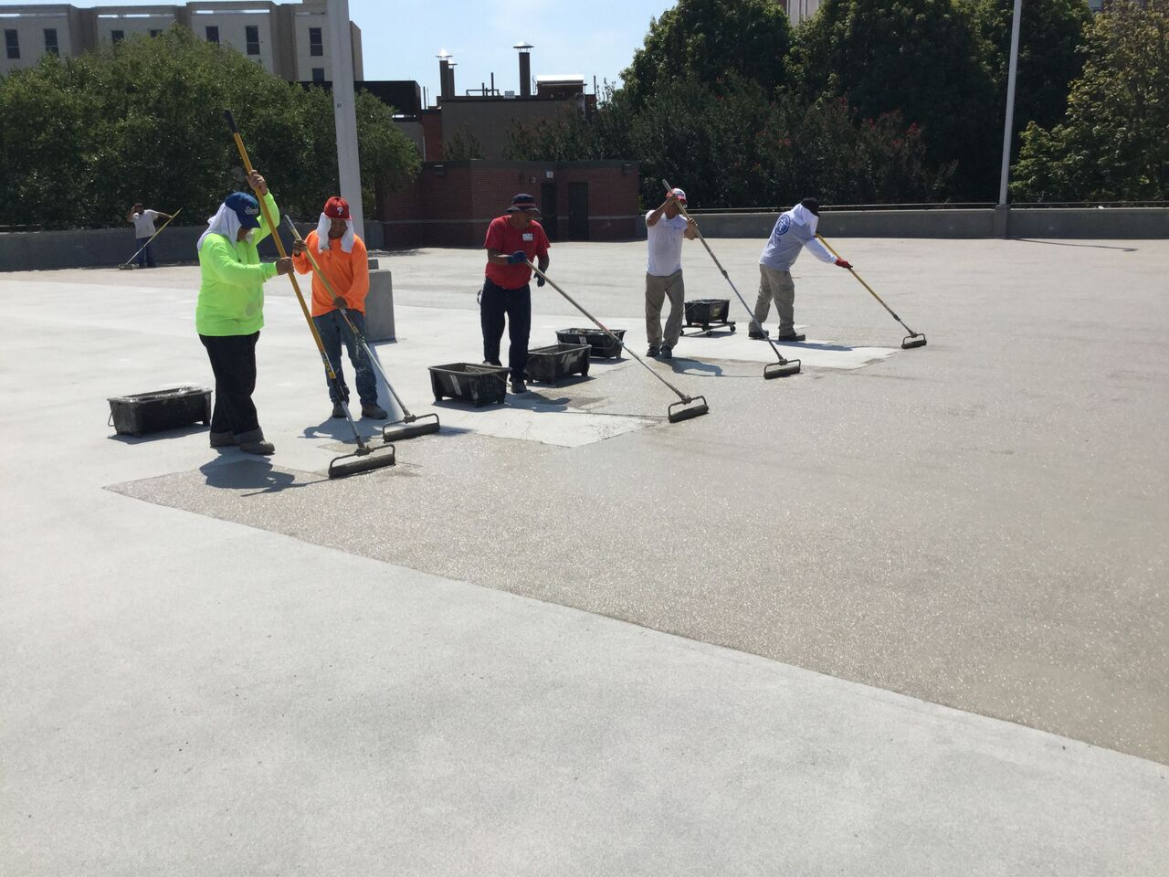 weatherproof outdoor concrete coating